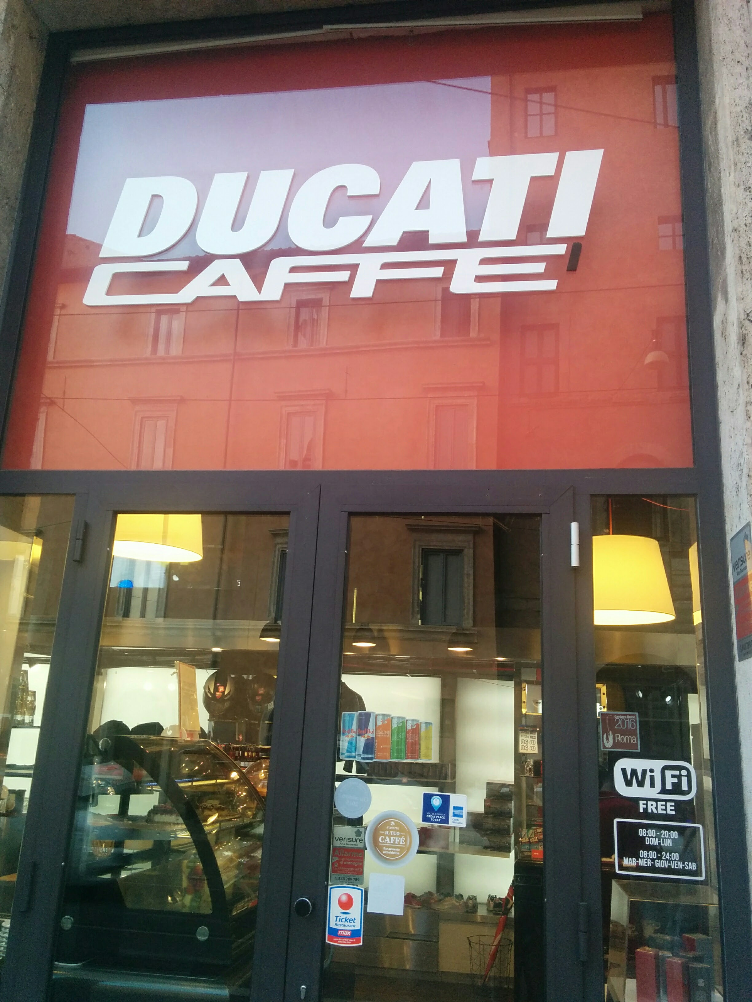 The Ducati Caffe! It was themed with all things Ducati
